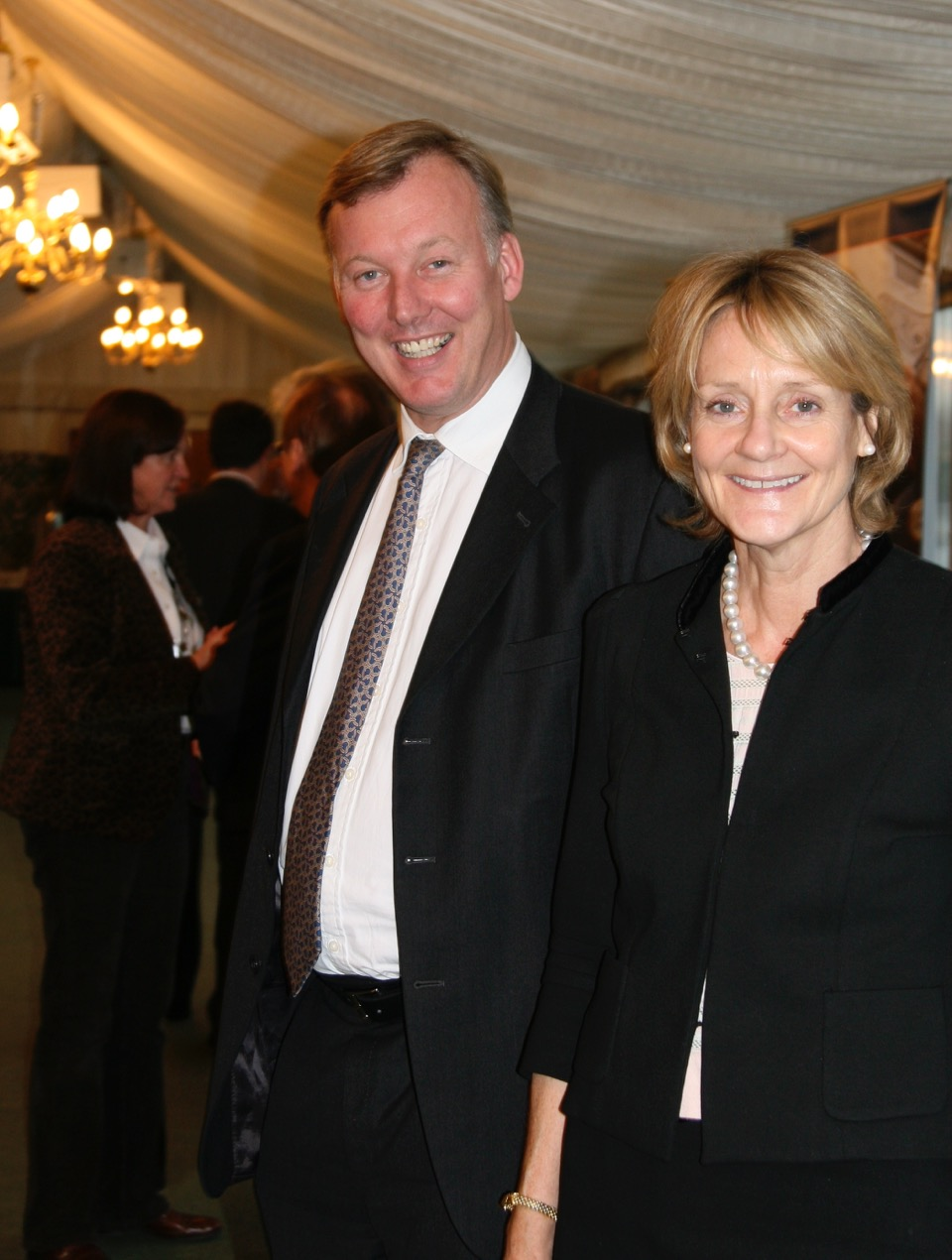 Bill Wiggins MP and Baroness Buscombe, both good shots