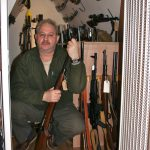 Director Savvas Toufexis in His gun room
