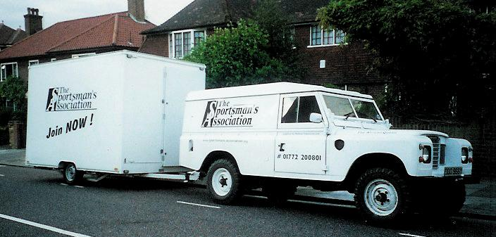Sportsmans Association Land Rover and Trailer